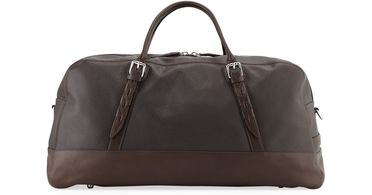Lyst - Cole Haan Pebbled Leather Duffle Bag in Brown for Men 0ac1f612d1636