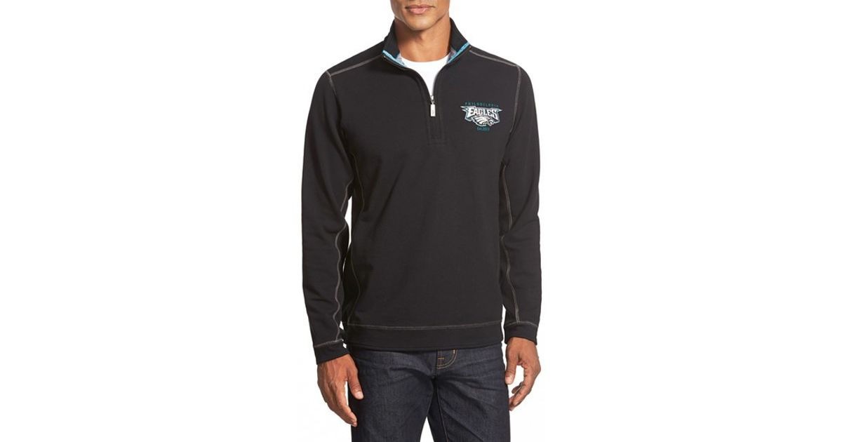 7788f3c96 Lyst - Tommy Bahama  ben   Terry - Philadelphia Eagles  Half Zip Pullover  Sweatshirt in Gray for Men