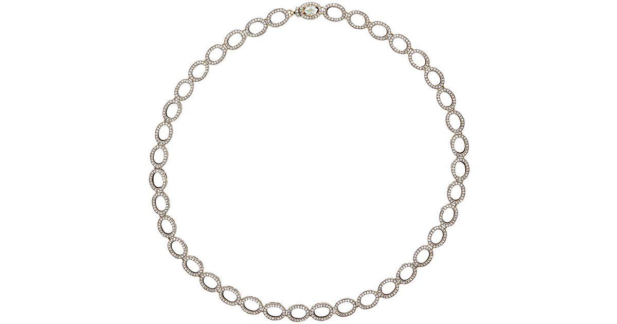 Munnu Womens Mixed-Gemstone Oval-Link Necklace yFZinceRTq