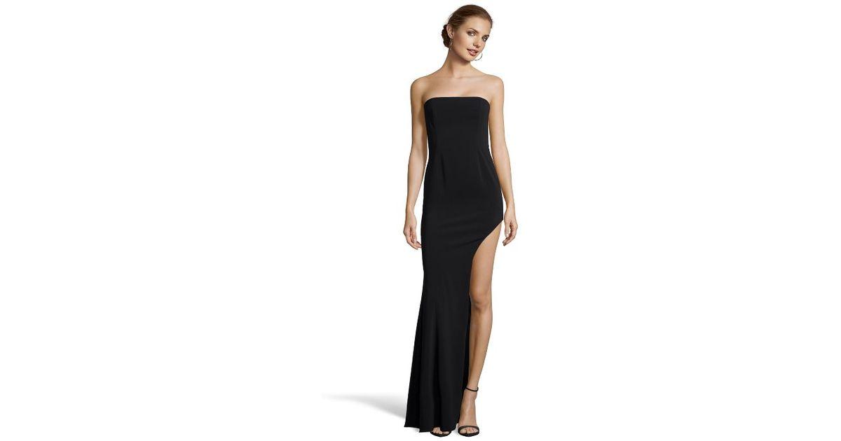 Lyst - Jay Godfrey Black Crepe \'harrison\' Side-slit Evening Gown in ...