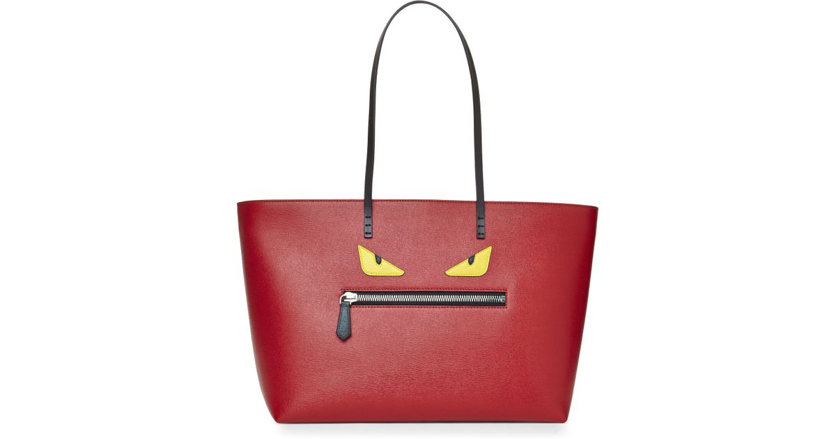 Lyst - Fendi Red Monster Tote in Red c28e1fefa47c9