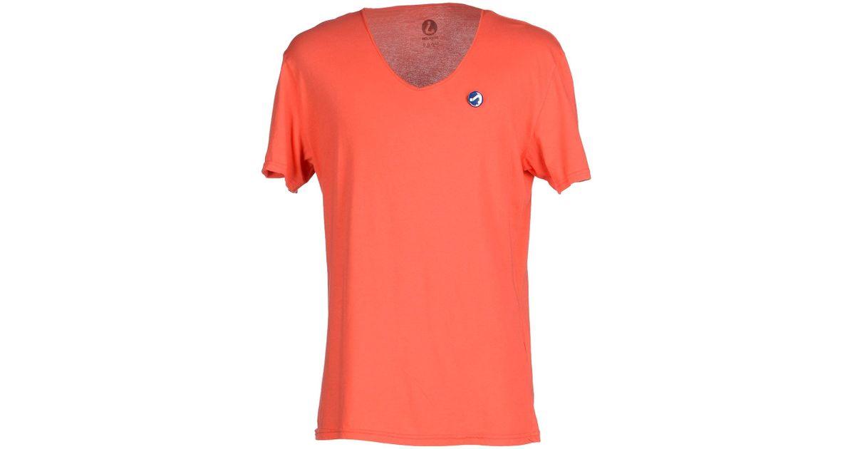 Jcolor T Shirt In Orange For Men Coral Lyst