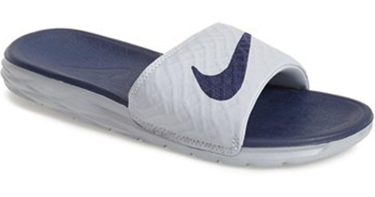 reputable site fc6b8 252ab Nike  benassi Solarsoft 2  Slide Sandal in Blue for Men - Lyst