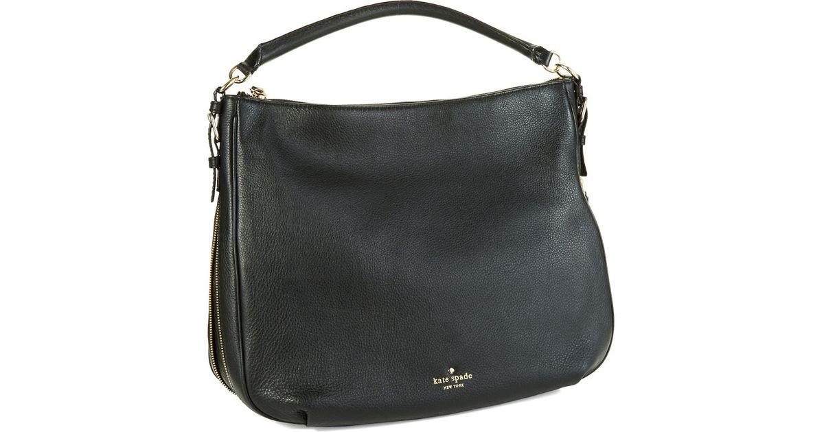 Lyst - Kate Spade New York Ella Leather Large Crossbody Bag in Black 2f1462b43888a