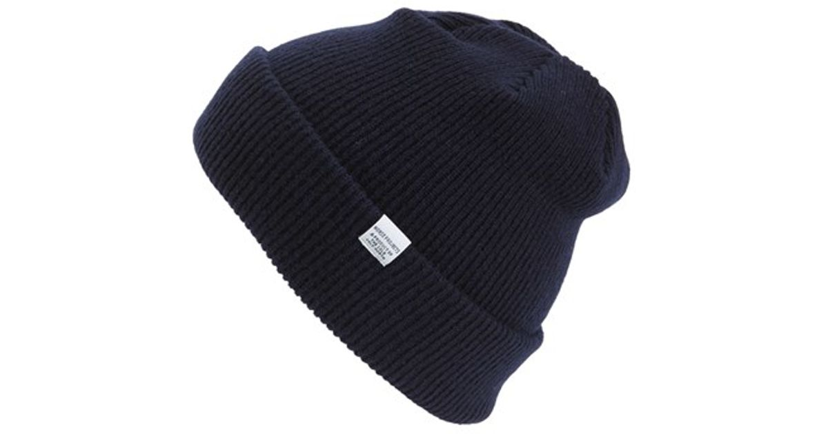 Lyst - Norse Projects Merino Wool Beanie in Blue for Men bc02088bcdf