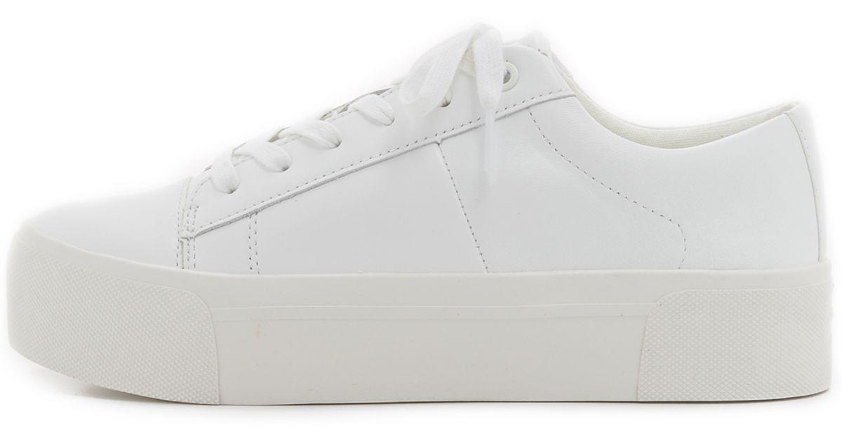 a0de6e3f34a Lyst - DKNY Bari Platform Sneakers in White