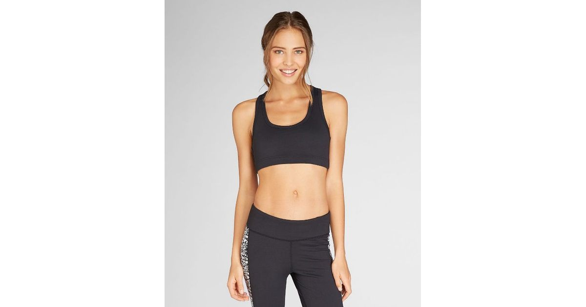 1842cc10ec Lyst - Threads For Thought Nixie Sports Bra in Black
