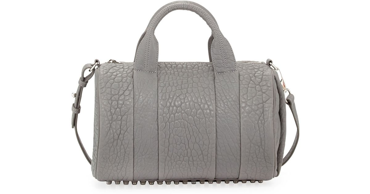 947f780aa87c Lyst - Alexander Wang Rocco Dumbo Studbottom Satchel Bag Gray in Gray