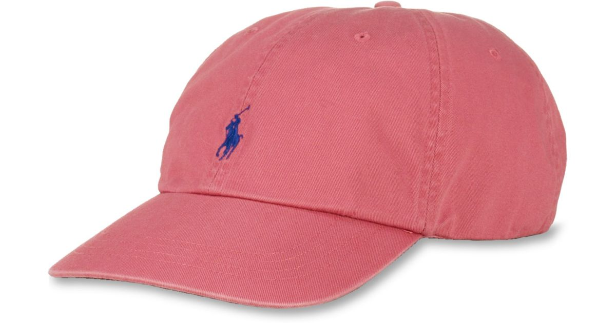 Lyst - Ralph Lauren Polo Big and Tall Classic Chino Twill Baseball Cap in  Red for Men 2664c7a8282