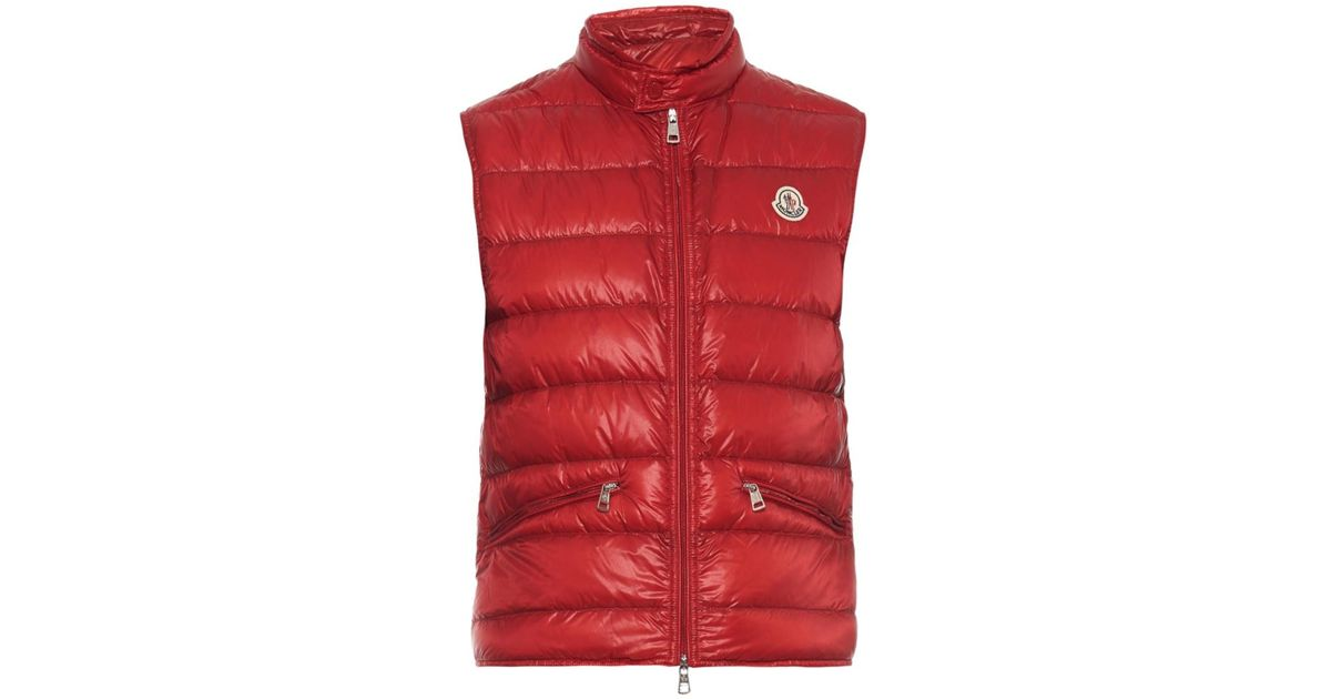 d73072abb Lyst - Moncler Gui Quilted Down Gilet in Red for Men