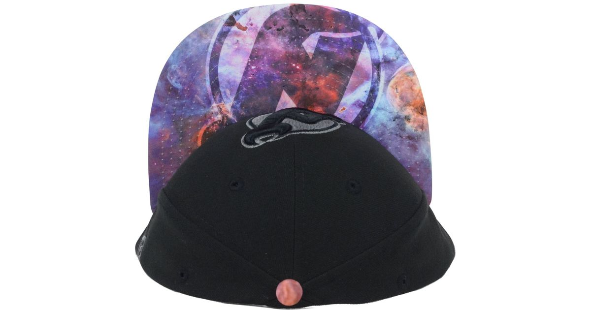 quality design ee6e1 1df9d ... where to buy lyst ktz new jersey devils nhl galaxy vizasketch 59fifty  cap in black for