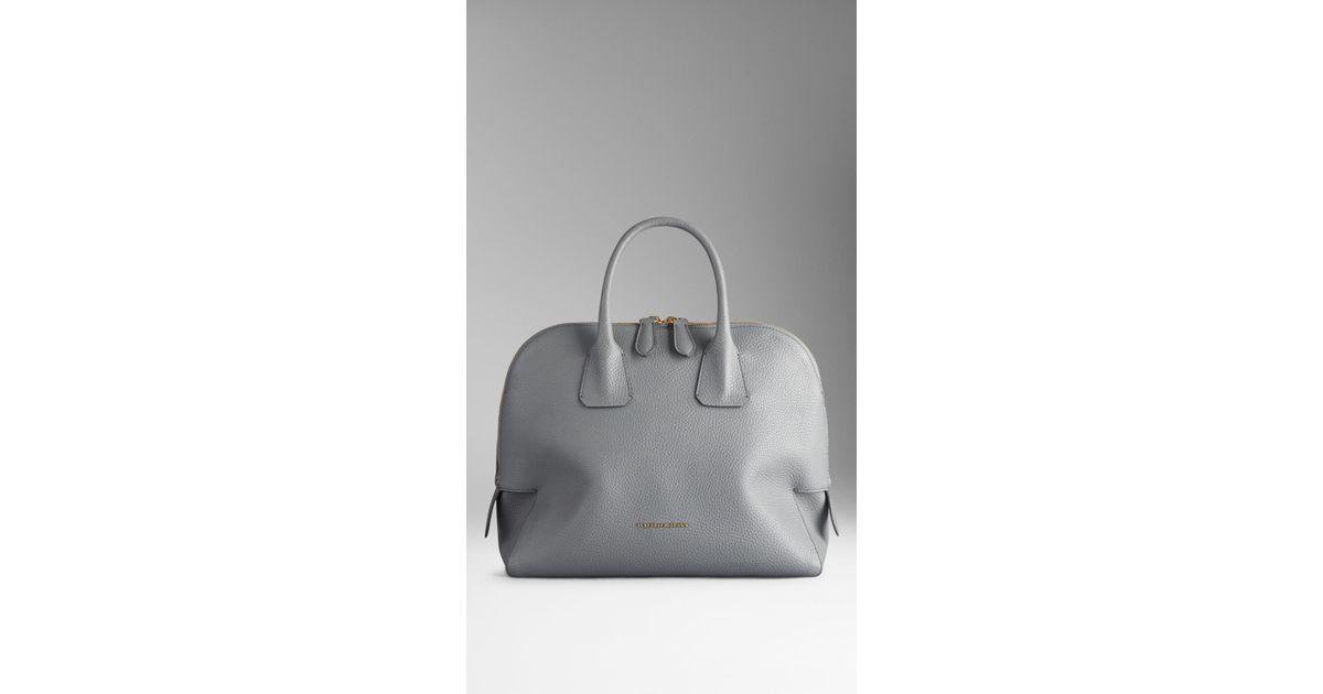 Lyst - Burberry Medium Grainy Leather Bowling Bag in Gray 1a83dd13e5b78
