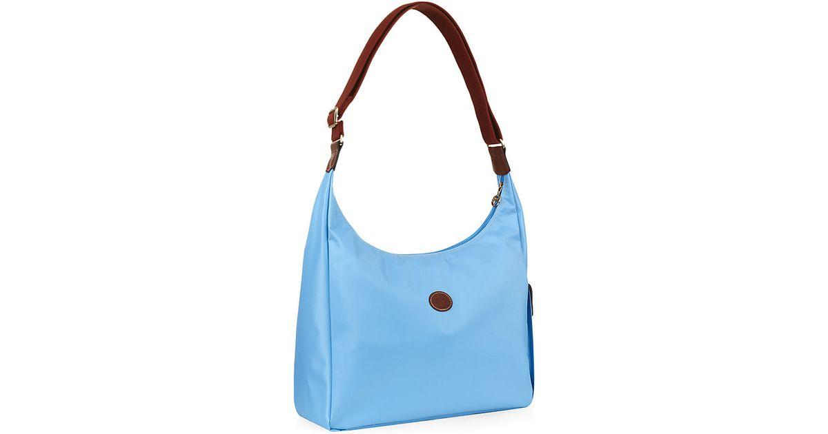 Longchamp Le Pliage Hobo Bag in Blue - Lyst a162b0a38