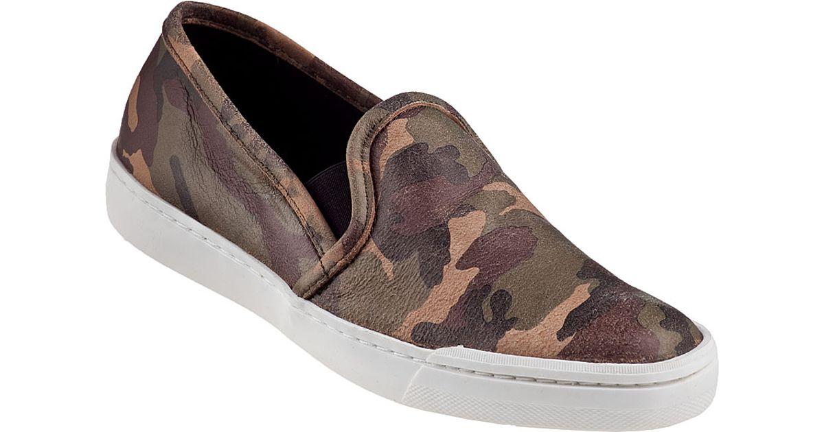 44e8633f086 Steve Madden Tardy Slip-On Sneaker Camo Leather in Brown - Lyst