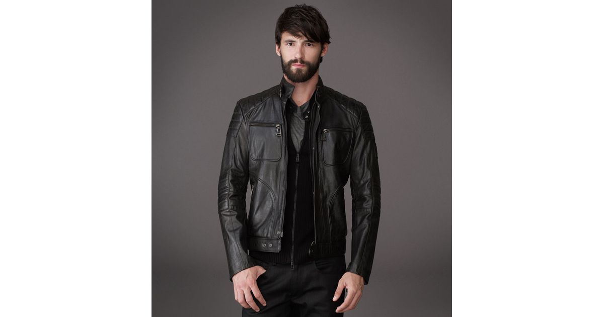 belstaff weybridge jacket in signature hand waxed leather. Black Bedroom Furniture Sets. Home Design Ideas