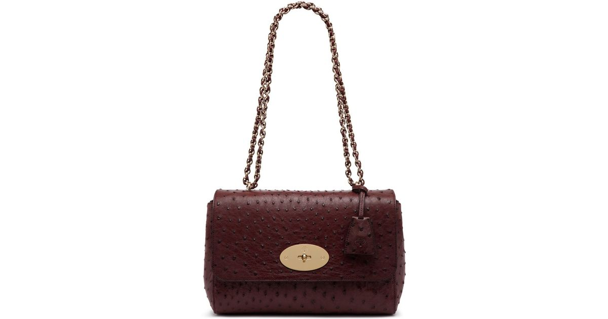 f3181e03b494 Lyst - Mulberry Lily Medium Leather Shoulder Bag in Purple