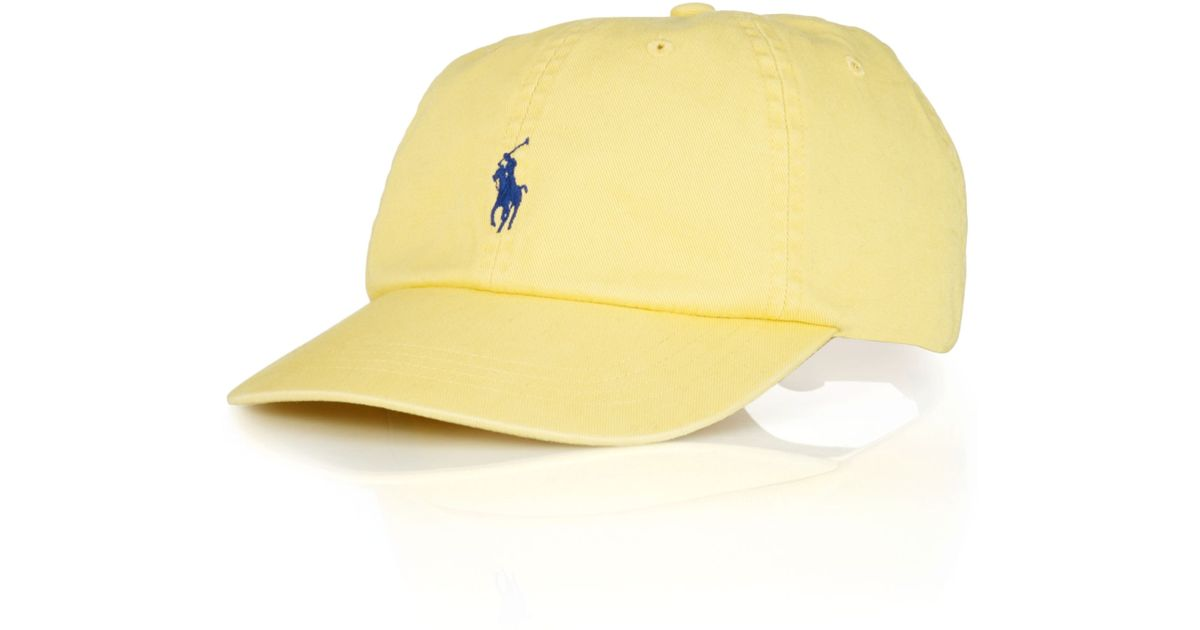 Lyst - Polo Ralph Lauren Polo Big and Tall Classic Chino Twill Baseball Cap  in Yellow for Men