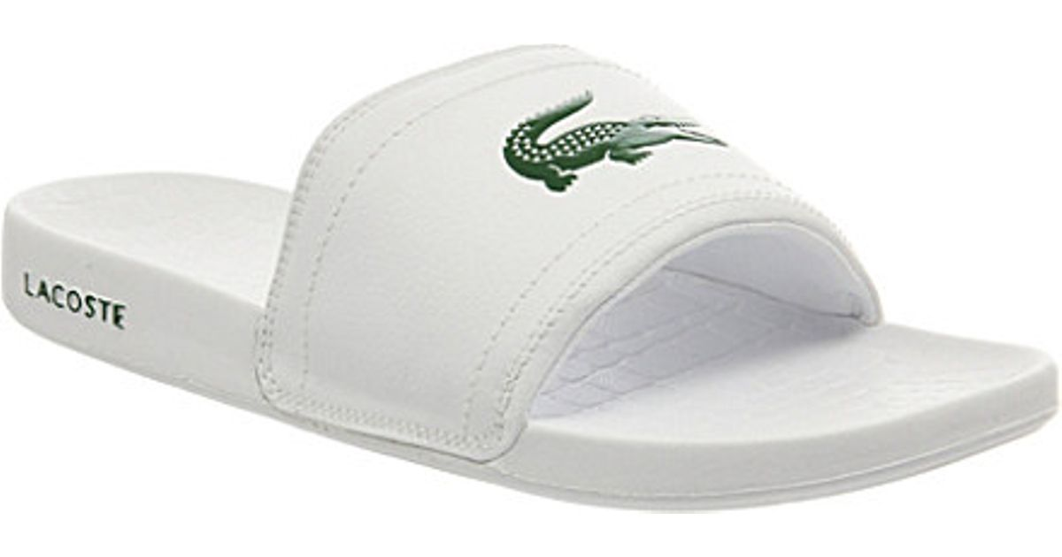 645c267b702 Lacoste Frasier Slider Sandals - For Men in White for Men - Lyst