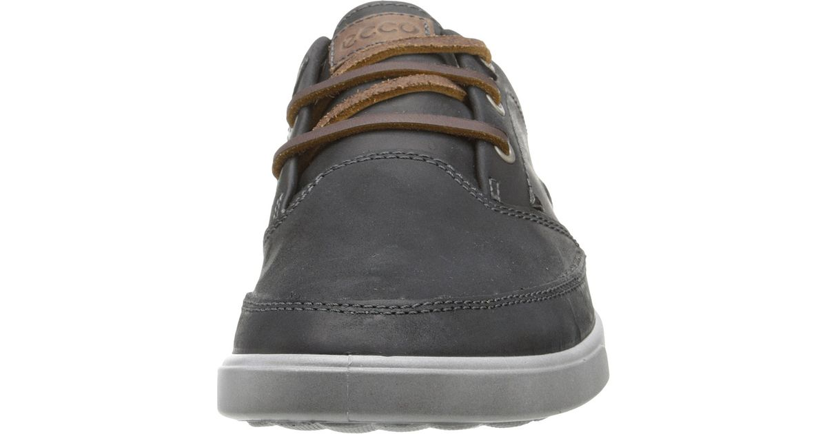 e0de01cbaf Ecco - Black Collin Nautical Sneaker for Men - Lyst