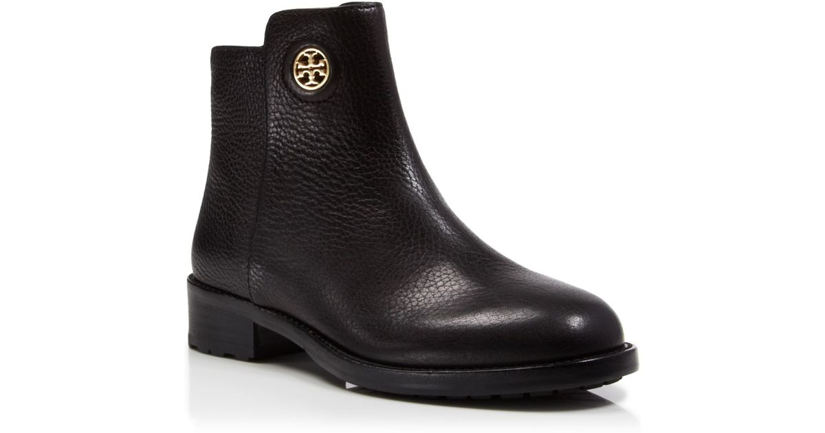 5cf1d20c078 ... coupon code for lyst tory burch booties junction flat in black 71198  d688b