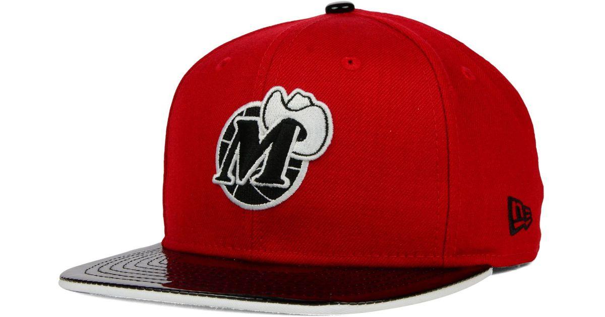 best service abe7f 2437d KTZ Dallas Mavericks Bred Hookup 9fifty Snapback Cap in Red for Men - Lyst