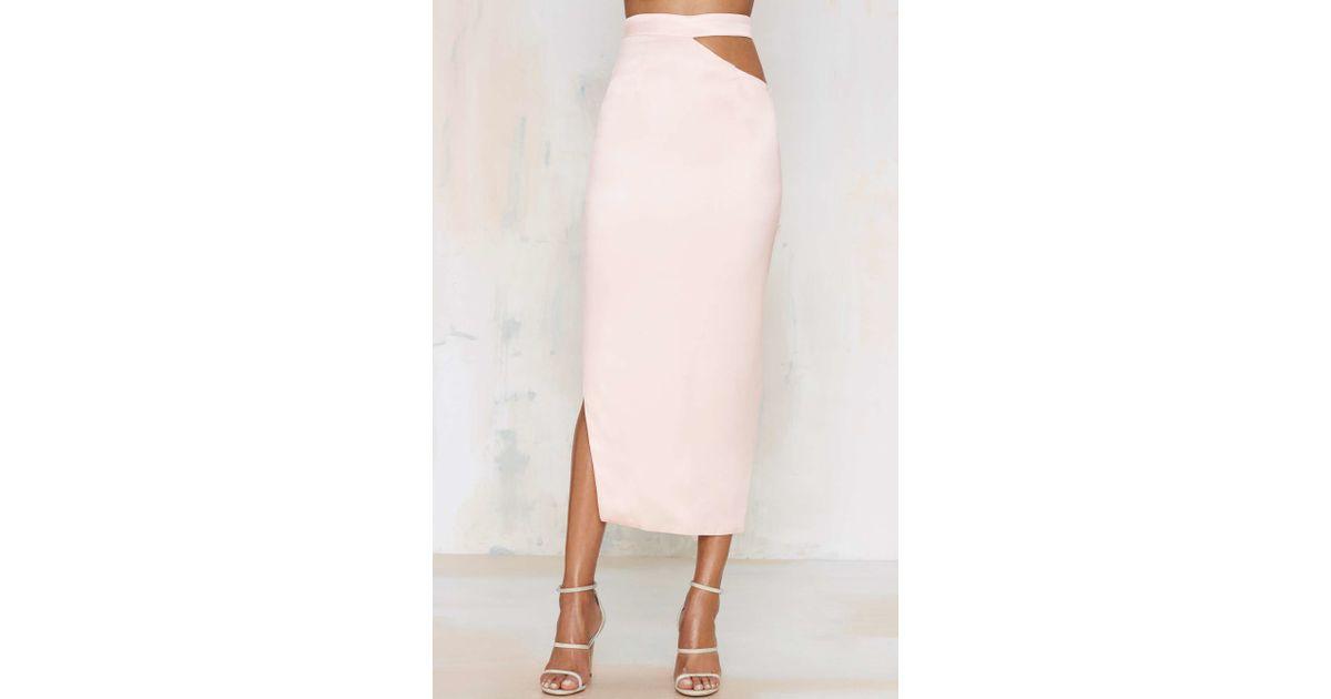 7b0eaf3ad Lyst - Misha Collection Danita Cutout Skirt in White