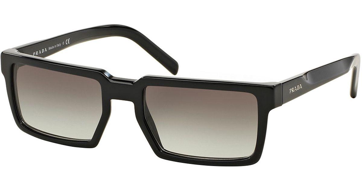 3af9b96e20 ... sale lyst prada thick rim rectangular sunglasses in black for men cb5d0  9c4ec