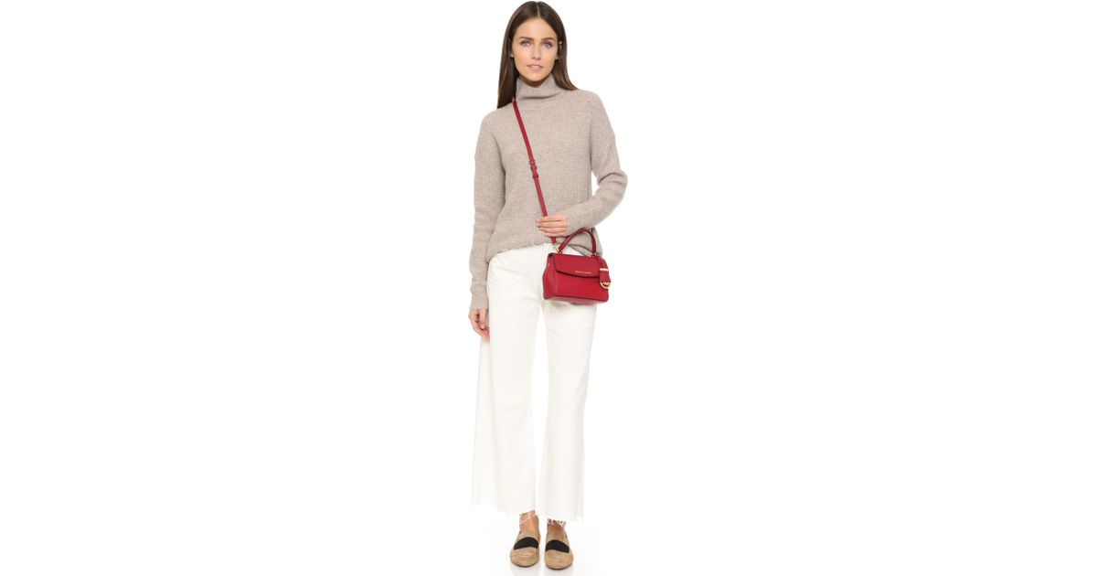 3c51a3141637 ... coupon code lyst michael michael kors ava extra small cross body bag  ballet in red c77ff