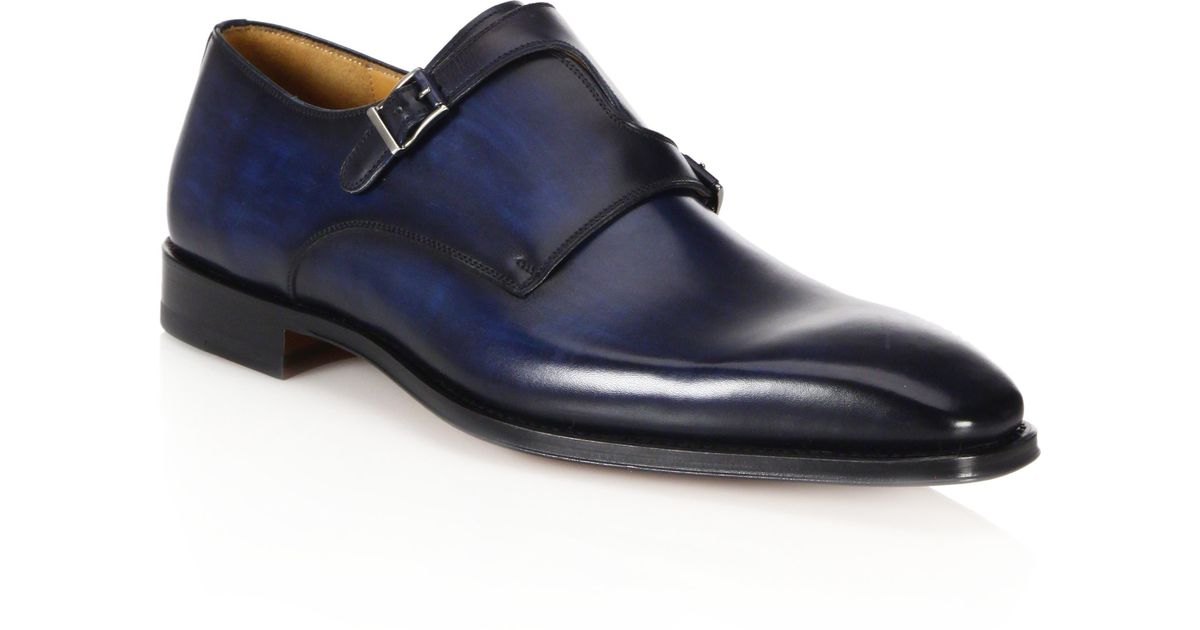 Saks Mens Monk Strap Shoes