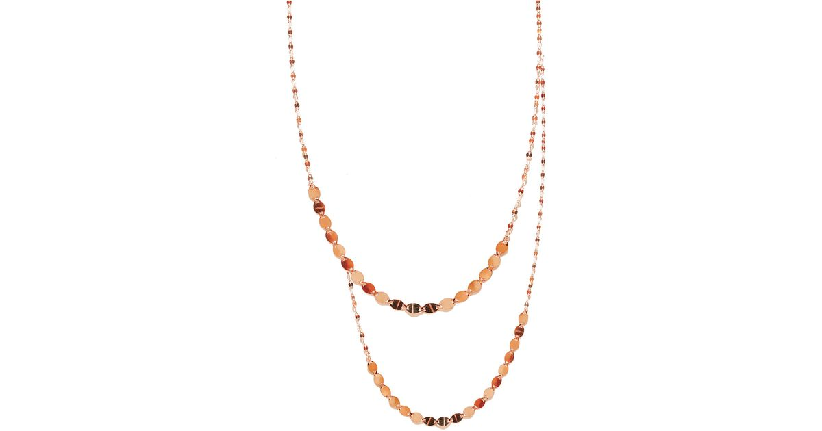 Lana Jewelry Nude Duo Drop Necklace taXI7xtw