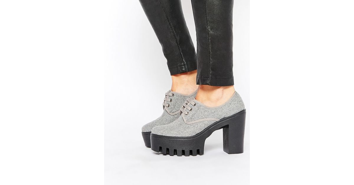 809e2e6cbd10 Lyst - ASOS Overboard Lace Up Shoes in Gray