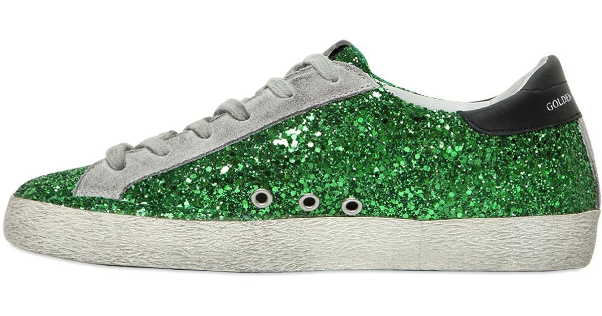 Golden Goose Green Glitter