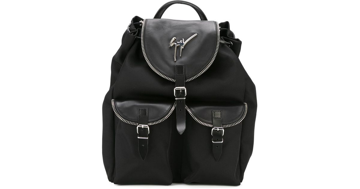 30ed828ba87a4 Giuseppe Zanotti Regiment Backpack in Black for Men - Lyst