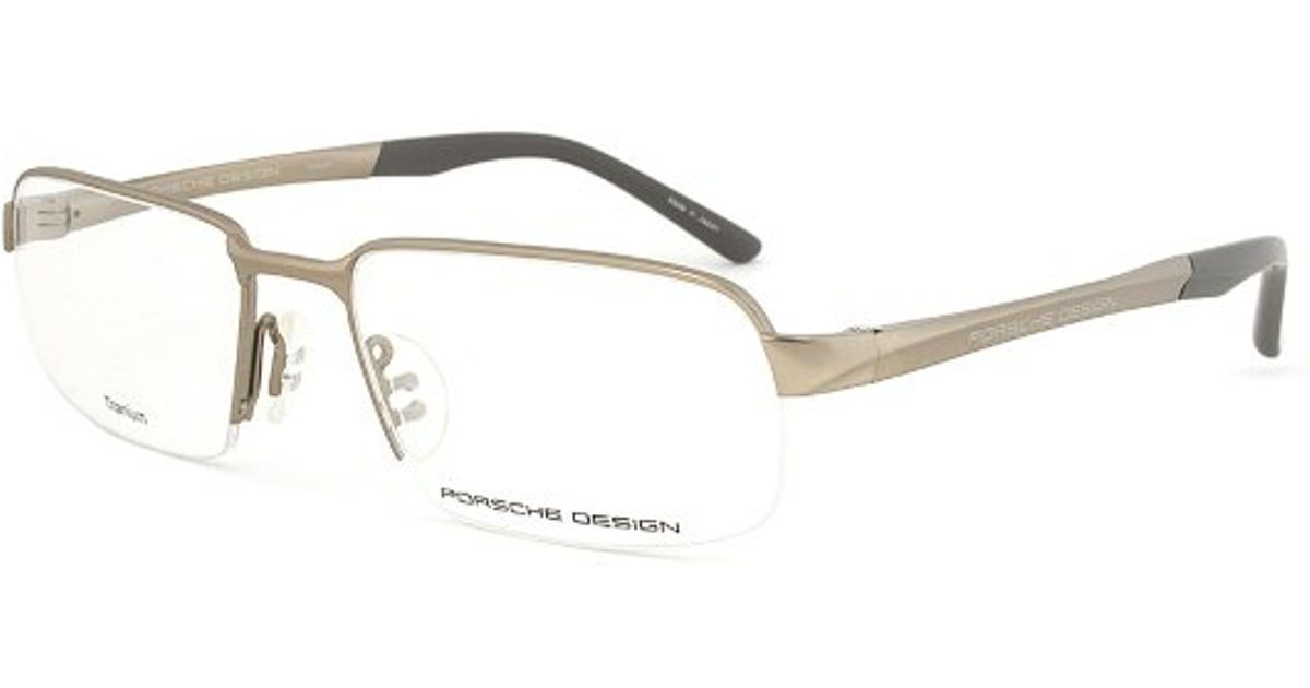 Lyst - Porsche Design Design P8213 A Titanium Gunmetal Eyeglasses ...