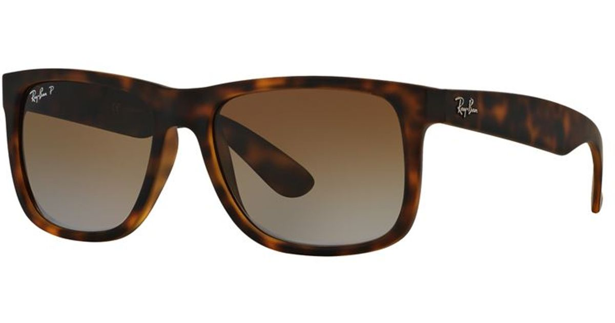ray ban justin rectangle sunglasses in brown lyst. Black Bedroom Furniture Sets. Home Design Ideas