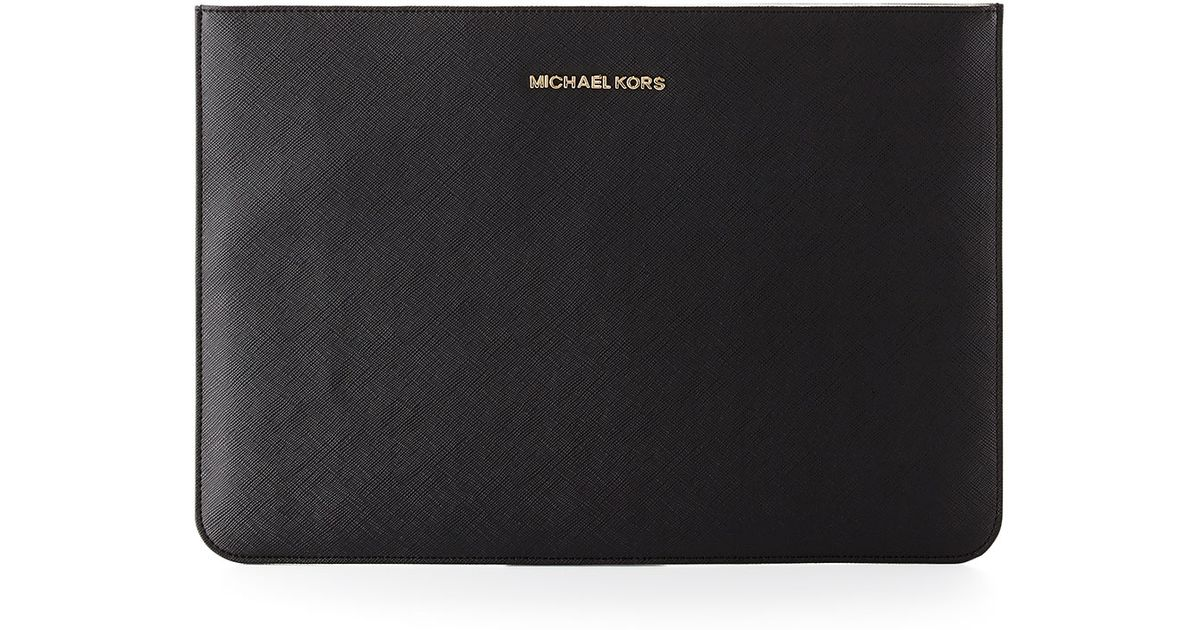 fbc7f8ea4 Michael Kors Michael Saffiano Laptop Sleeve in Black for Men - Lyst
