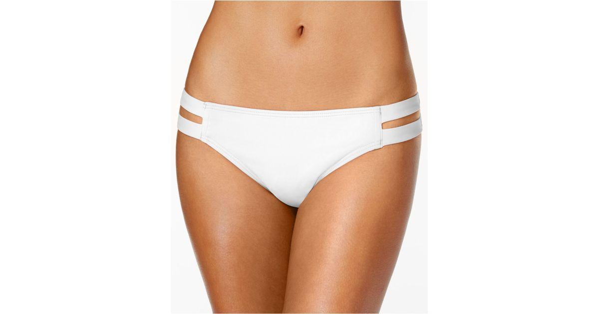 d50ea09e24caa Lyst - Vince Camuto Double Side Strap Bikini Bottom in White