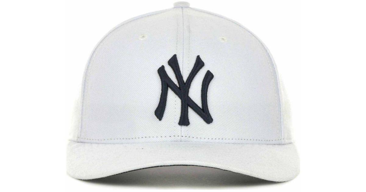 Lyst - 47 Brand New York Yankees Mvp Cap in White for Men 0991692754a8