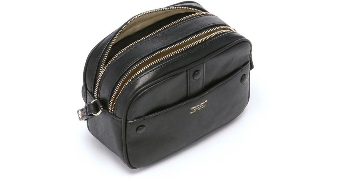 Sale Hot Sale Cheap Sale Cheapest Camera Bag in Black Calfskin Giorgio Armani Free Shipping Cost Recommend For Sale w2fNQ