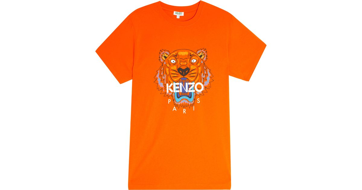 43a532688 KENZO Iconic Tiger T-shirt in Orange for Men - Lyst