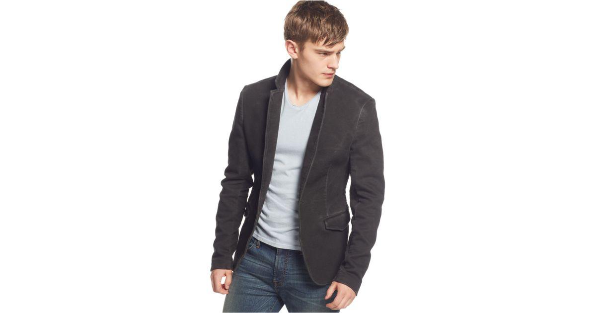 Lyst - Guess Luke Faded Blazer in Black for Men 3d9ac736e