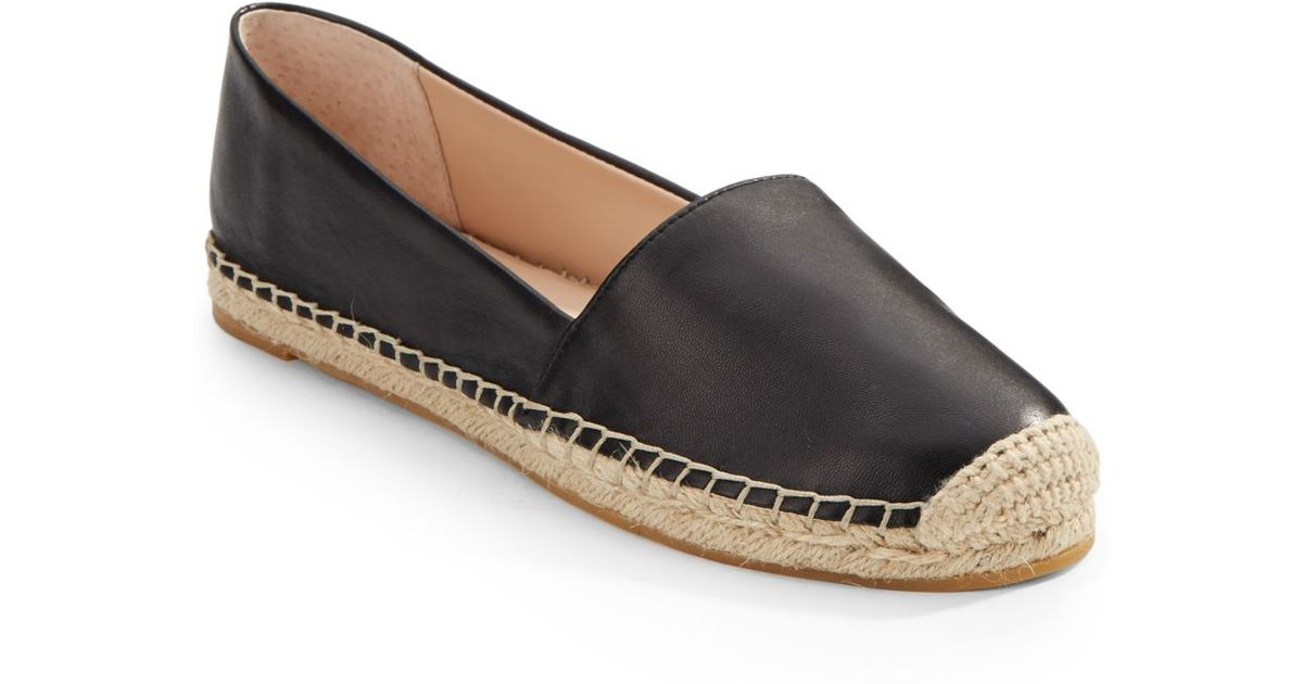 57b0e5722cc French Connection Sammy Leather Espadrilles in Black - Lyst