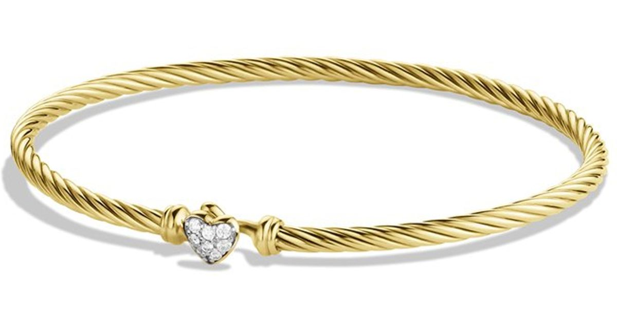 Lyst - David yurman Cable Collectibles Heart Bracelet with ...