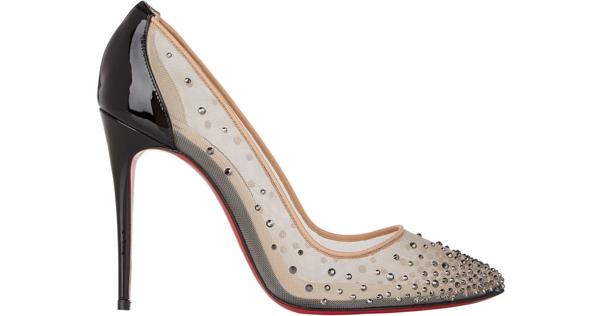 Christian Louboutin Crystal-Embellished Follies Strass Pumps - Lyst 9c4748aee