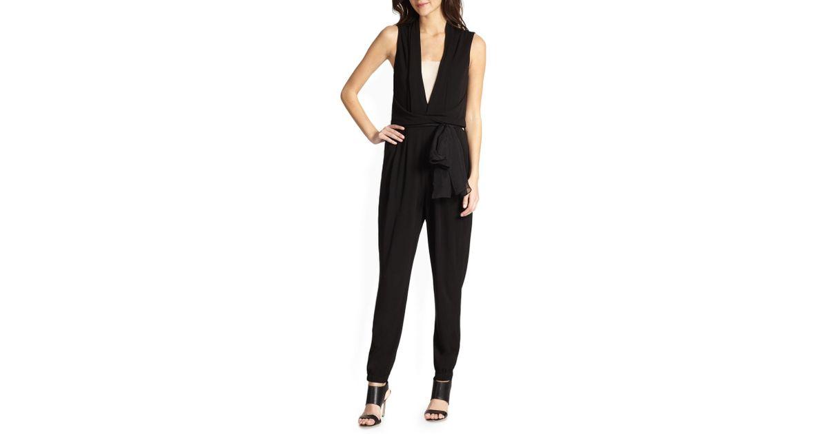 02f64756320 Lyst - Elie Tahari Hudson Matte Jumpsuit in Black