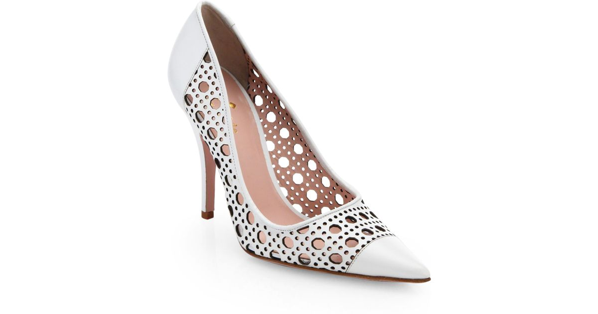 cheap sale release dates 2014 newest Kate Spade New York Perforated Leather Slingback Pumps low shipping cheap online manchester great sale cheap price pojbFLnI5