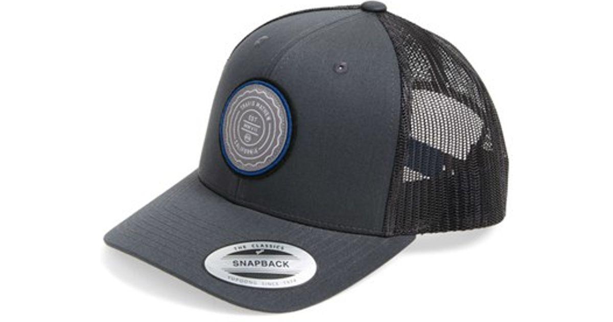 8b7d4f2f8e1 ... sale lyst travis mathew trip l trucker hat in black for men 63d40 7a4eb