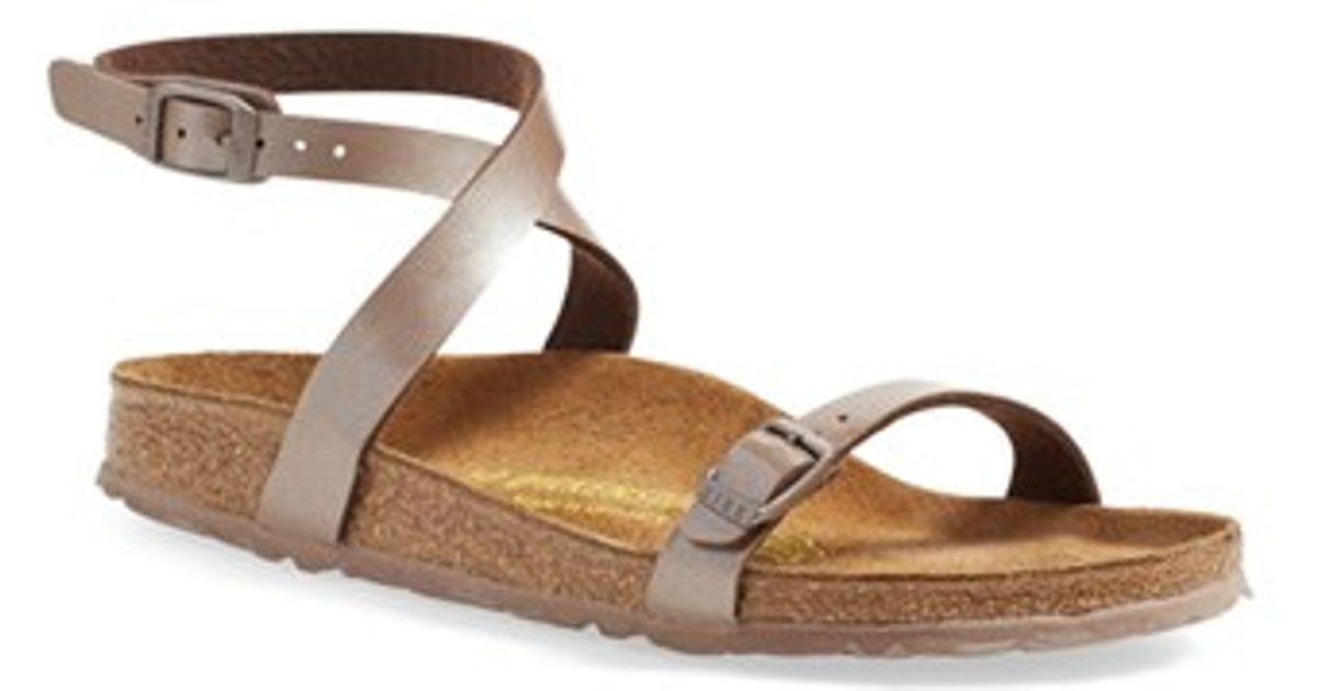 6a3036699c3 Lyst - Birkenstock  daloa  Ankle Strap Sandal in Gray
