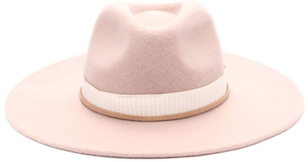 Forever 21 Wide-brim Fedora in Pink - Lyst 7c7708b3939