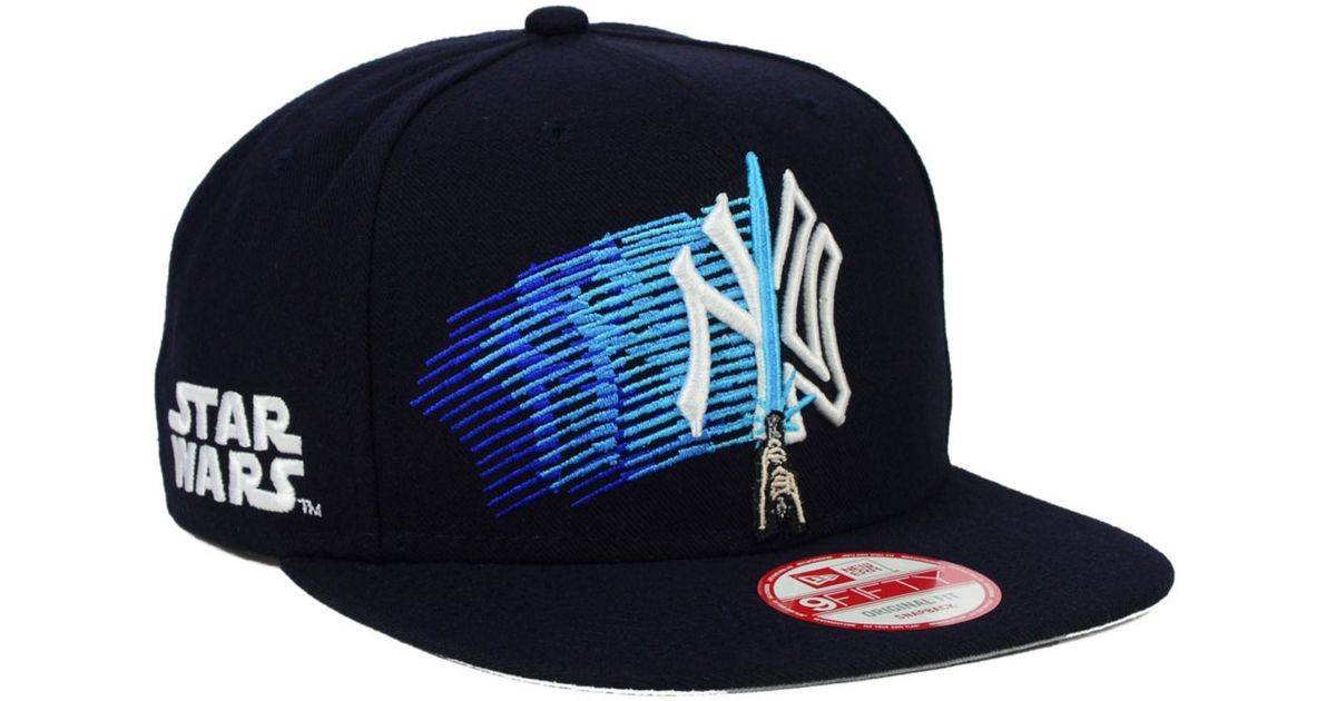 size 40 041a9 105f9 ... low price lyst ktz new york yankees star wars logoswipe 9fifty snapback  cap in blue for